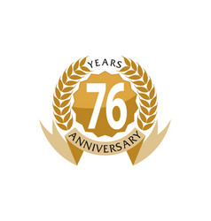 76 years ribbon anniversary vector image