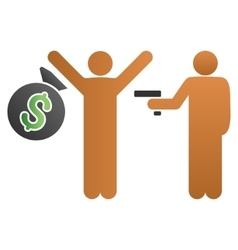 Robbery gradient icon vector