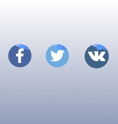 Socials icons - fb tw vk vector