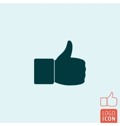 Thumb up icon isolated vector