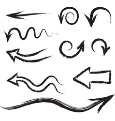 Arrows circles and abstract doodle handwritten vector