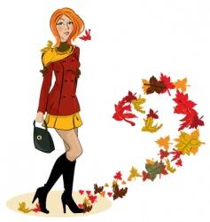 autumn fashion vector image vector image