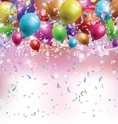 Balloons confetti and streamers background 0305 vector image vector image