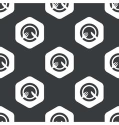 Black hexagon dishware pattern vector image vector image