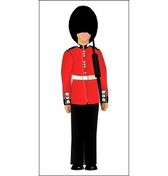 British soldier on guard duty vector