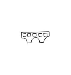 building cartoon icon vector image vector image