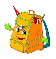 Cartoon school satchel vector image