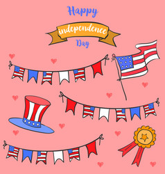 Celebration card for inependence day vector
