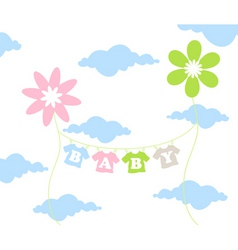 children flower vector image vector image
