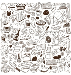 Cookery doodles vector image vector image