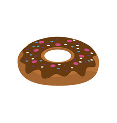 delicious sweet donut bakery snack vector image vector image