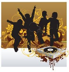 Dj party illustration vector