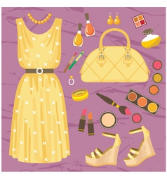 Fashion set vector image vector image