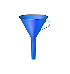 Funnel in blue design vector