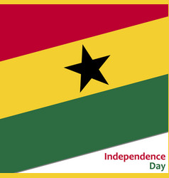 Ghana independence day vector