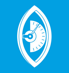 Hand power meter icon white vector