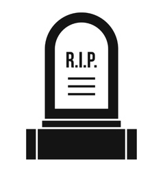 Headstone icon simple style vector image