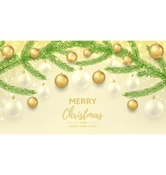 Merry christmas and happy new year gift card vector