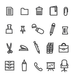 Office tools icon set vector