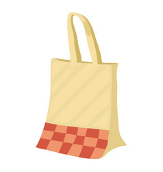 paper bag icon cartoon style vector image vector image