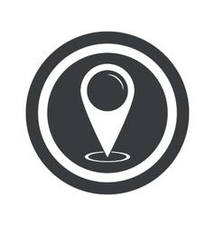 Round black area pointer sign vector