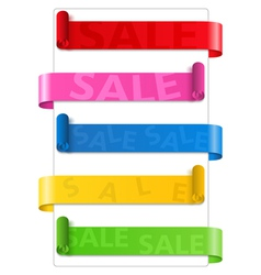 Sale Ribbons vector image vector image