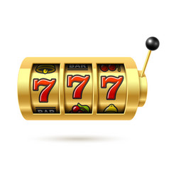 slot machine with lucky sevens jackpot vector image