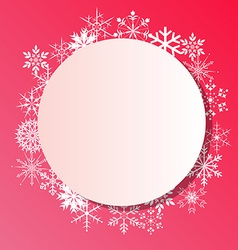 Snowflakes frame on white background vector image vector image