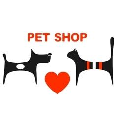 Symbol of pet shop vector