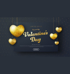 Template header for sale on valentines day vector
