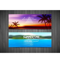 Tropical cards vector image vector image