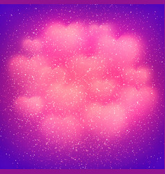 valentines day backdrop with blurred pink hearts vector image vector image