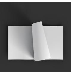 White blank magazine spread business mockup vector