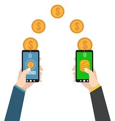 Sending and receiving money send money wireless vector
