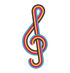 Cmyk treble clef vector