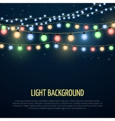 Abstract background with christmas garland vector