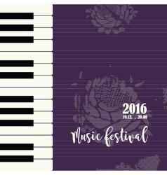 Music piano festival poster vector