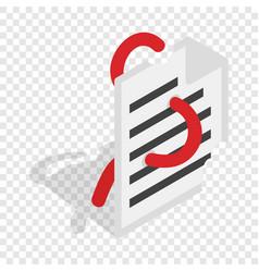 computer worm document destruction isometric icon vector image