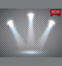 Spotlights scene transparent light effects stage vector