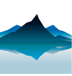 Blue mountains in the fog vector