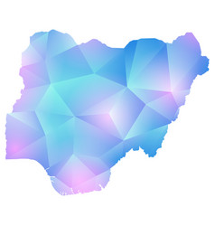 Map of nigeria polygon vector