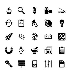 Science and technology glyph icons 14 vector
