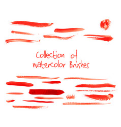 Collection of watercolor brushes vector