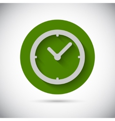 Clock watch flat icon vector image