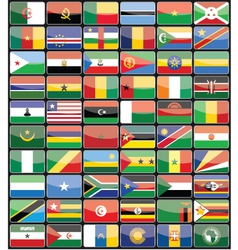 Elements design icons flags of the countries of Af vector image