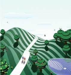 green acres vector image
