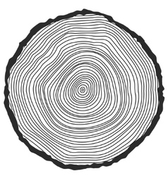 Conceptual background with tree-rings vector