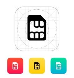 Micro SIM icon vector image