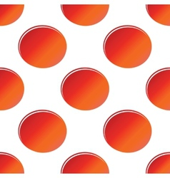 Red oval pattern vector