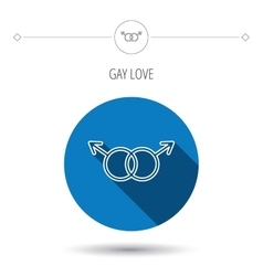 Gay couple icon homosexual sign vector